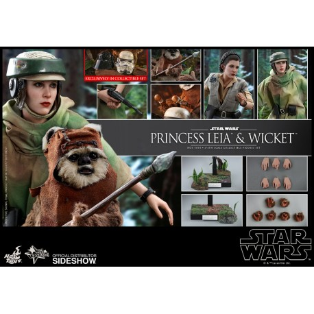 Princess Leia & Wicket Sixth Scale Figure Set  Star Wars Episode VI: Return of the Jedi - Movie Masterpiece Series