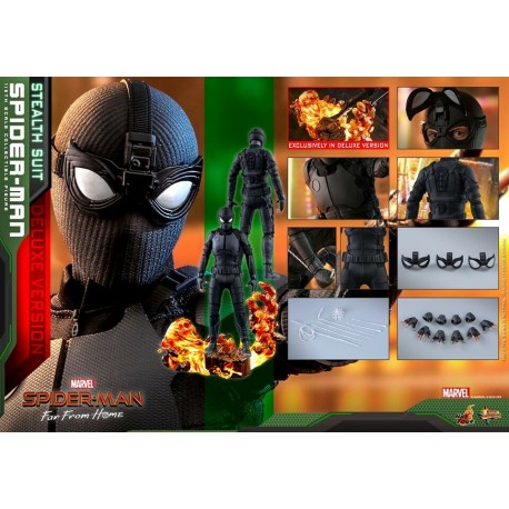 Hot Toys Spider-Man (Stealth Suit Deluxe Version) Spider-Man: Far From Home