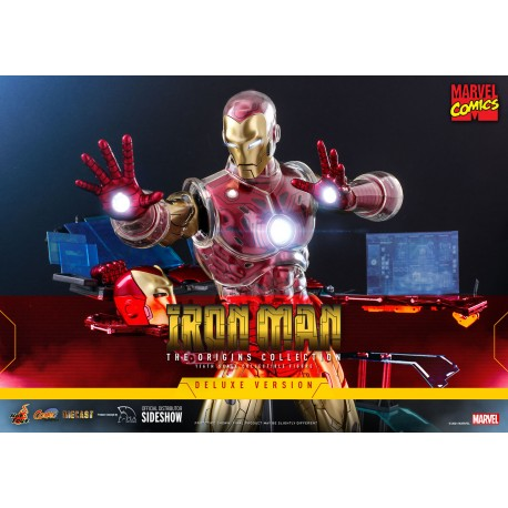 Iron Man (Deluxe) Sixth Scale Figure by Hot Toys The Origins Collection - Comics Masterpiece Series Diecast