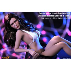Phicen Super-Flexible Female Seamless Body with Stainless Steel Skeleton in Suntan/big bust size 1: 6 figure