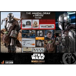 The Mandalorian™ and Grogu™ (Deluxe Version) Sixth Scale Figure Set by Hot Toys