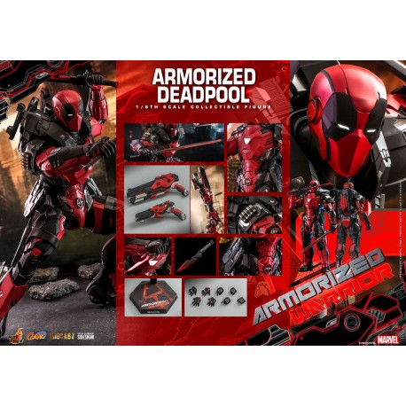 Armorized Deadpool Sixth Scale Figure by Hot Toys Comics Masterpiece Series Diecast - Armorized Warrior Collection
